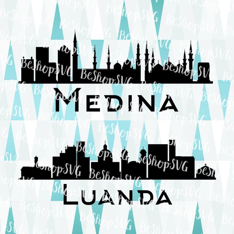 Medina City SVG, Luanda SVG, Cities SVG, Saudi Arabia Svg, Angola Svg,  Instant download, Eps - Dxf - Png - Svg