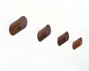 Set of 4 Walnut Hooks
