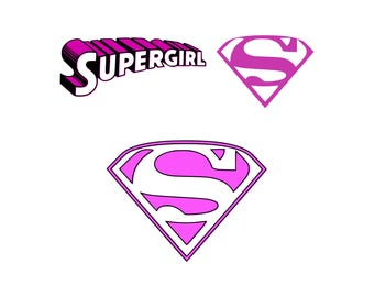 Supergirl Svg Logo Superhero Inspired By Cut Table Design Dxf Png Eps Tshirt