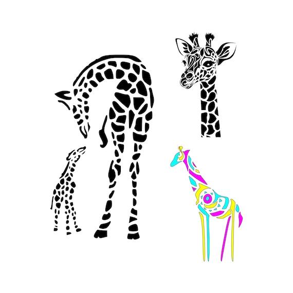 Giraffe Svg Mom And Baby Giraffe Svg Giraffe Print Svg Giraffe Etsy