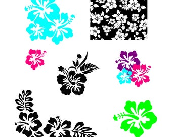 Hibiscus svg Hibiscus pattern svg Hibiscus print svg Cutting Vector Clip Art for Cricut Cameo Silhouette