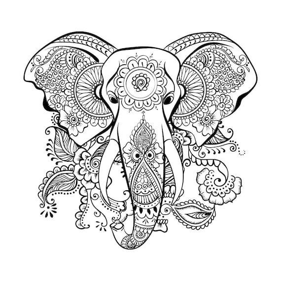 Ethnique éléphant SVG Mandala éléphant SVG éléphant tête Zentangle éléphant  SVG svg coupe table Design svg dxf eps png 18661d53ac5