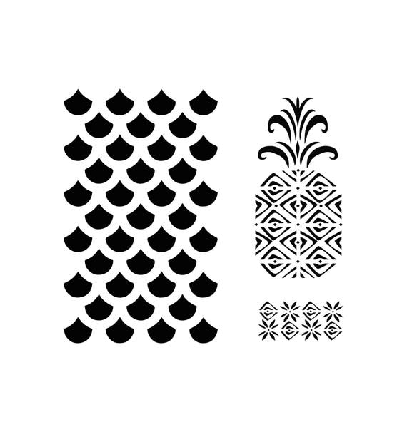 Pineapple Print Svg Pineapple Svg Print Svg Pattern Svg Etsy