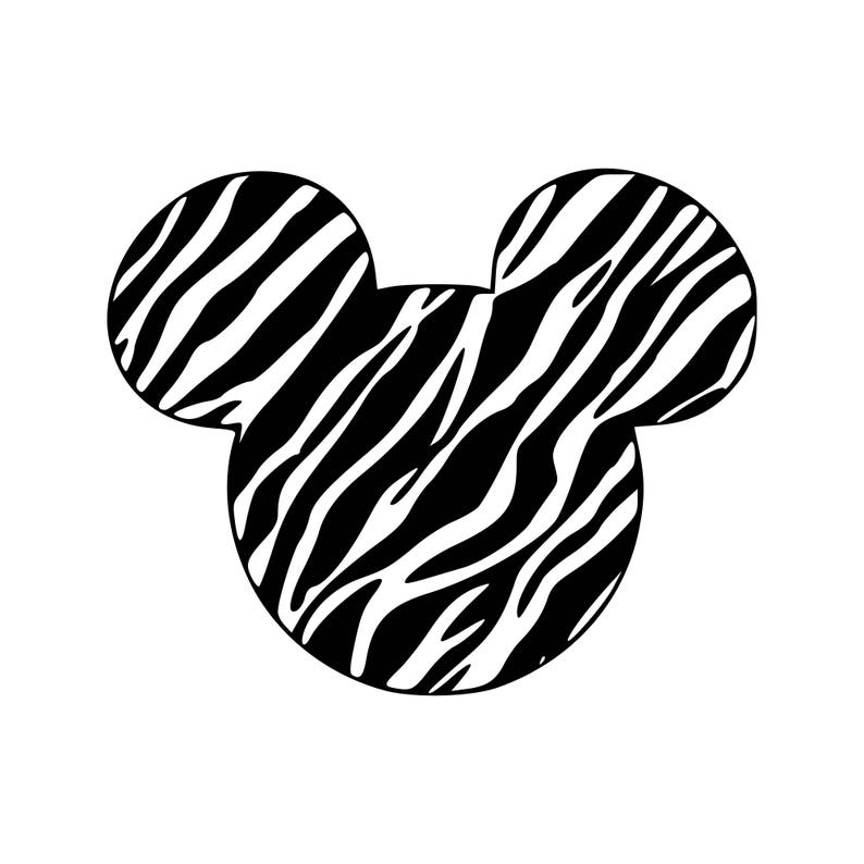 Zebra Print Svg Zebra Mickey Svg Print Svg Pattern Svg Cutting