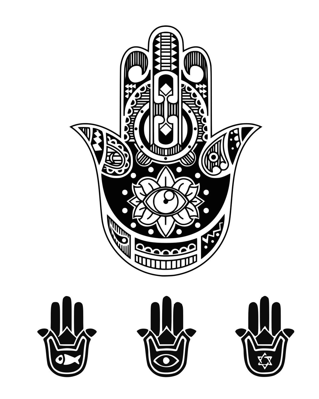 Hamsa Svg Symbols Svg Amulet Svg Hamsa Hand Svg Boho Hand Svg Etsy