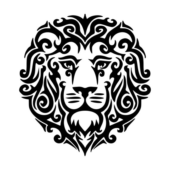 Zentangle Lion Svg Mandala Lion Svg Lion Svg Mandala Svg Etsy