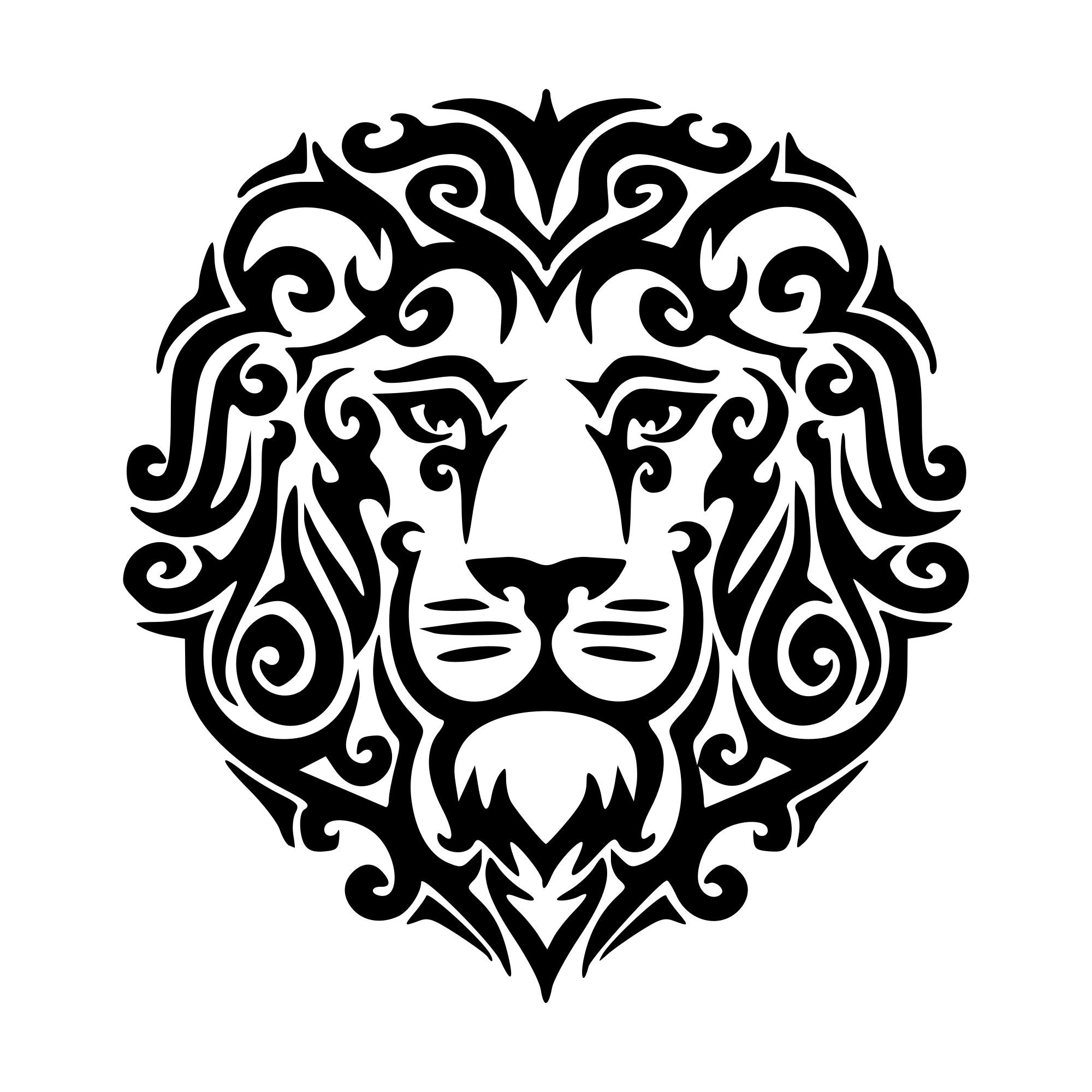 Download Lion Face Svg Free - Lion Head Stock Vector Art & More ...