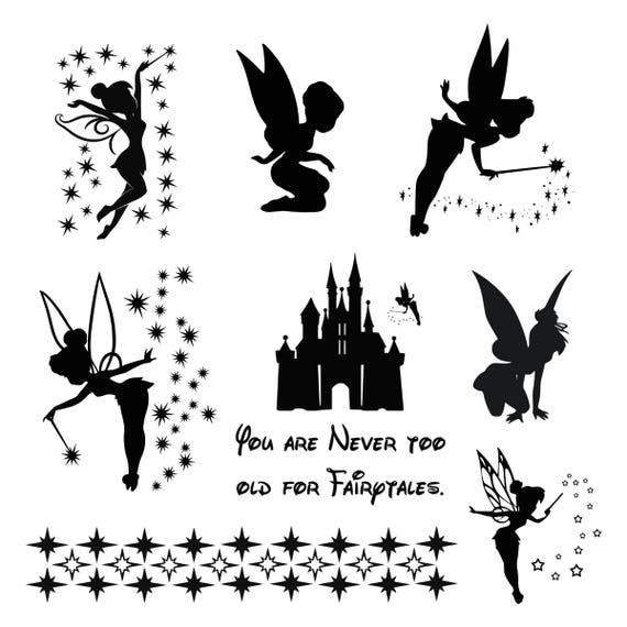 tinkerbell svg tinkerbell clipart tinker bell svg disney files rh etsy com tinkerbell clipart black and white tinkerbell clipart images