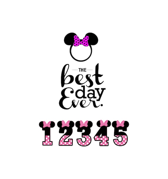 Best Day Ever svg Minnie Svg Disney svg Minnie bow t