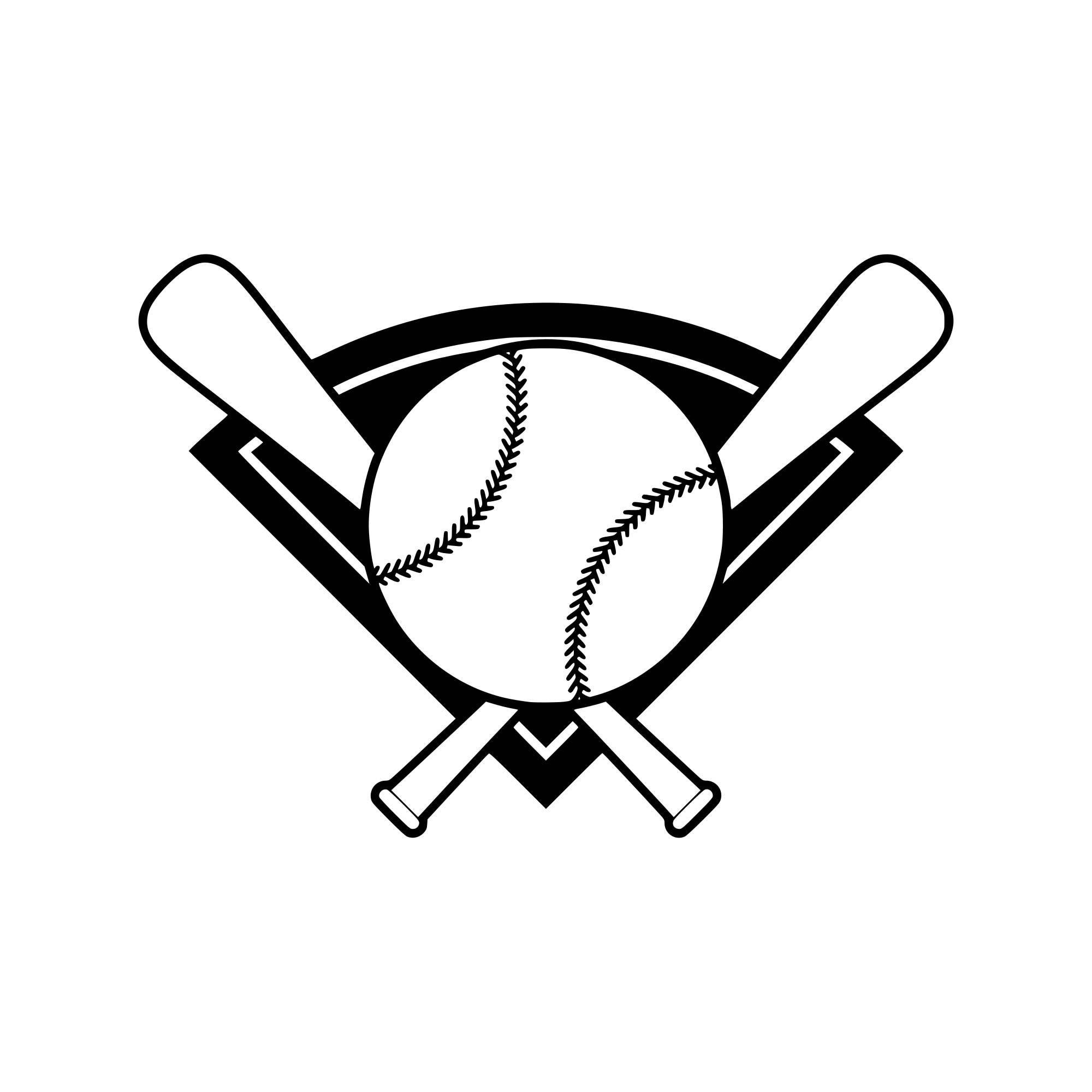 Baseball Bat Svg Baseball Svg Baseball Silhouette Baseball Cut Etsy