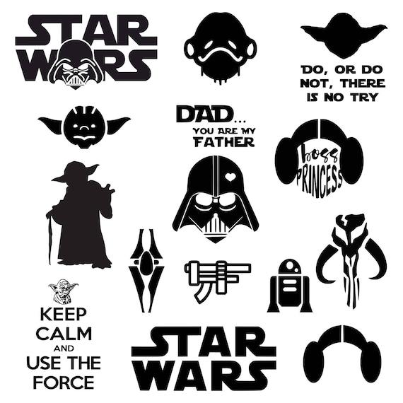 Star Wars Svg Darth Vader Svg Meister Yoda Svg Prinzessin Leia Inspiriert Von Stern Wars Svg Dxf Png Vektor Geschnitten Datei Cricut Design Silhouette