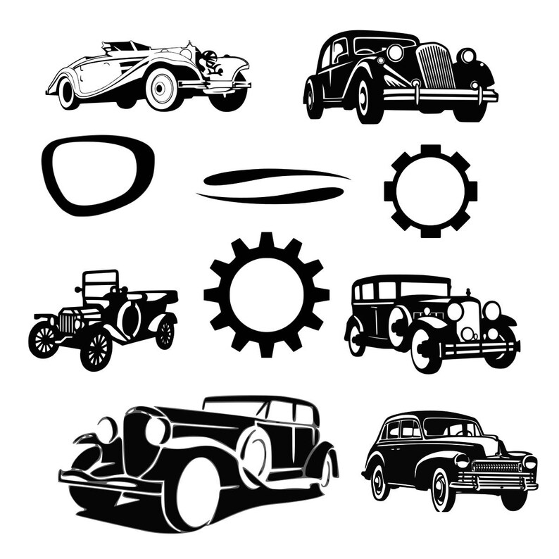 864376cf334 Retro car svg Old car svg Vintage car svg Frame car svg Monogram car svg  eps png dxf t shirt design car svg digital cut file