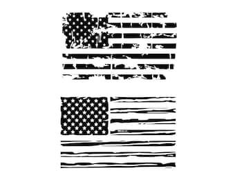American flag svg Distressed American Flag svg USA Flag svg Patriotic svg Distressed flags SVG DXF July 4 svg