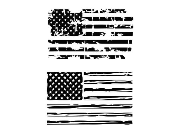 American Flag Svg Distressed American Flag Svg Usa Flag Svg Etsy