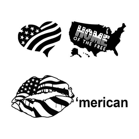 American Lips Svg Patriotic Lips Svg 4 Th Of July Svg Lips Svg Etsy