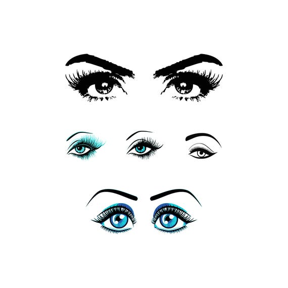 Eyelashes Svg Makeup Svg Eyes Svg Makeup Eyes Svg Stylist Svg Etsy