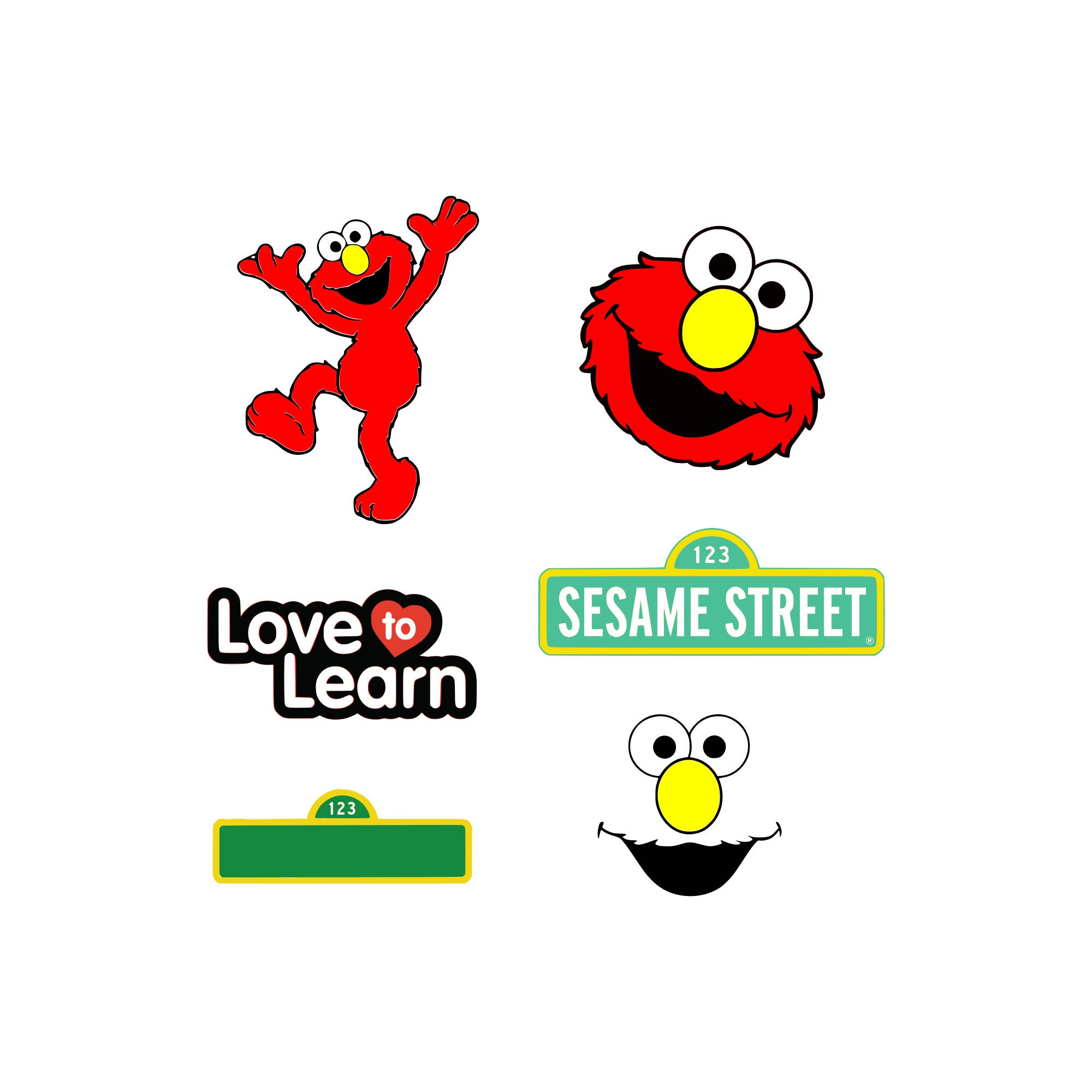Sesame street svg Elmo svg Sesame stree Sign and Blank Sign | Etsy