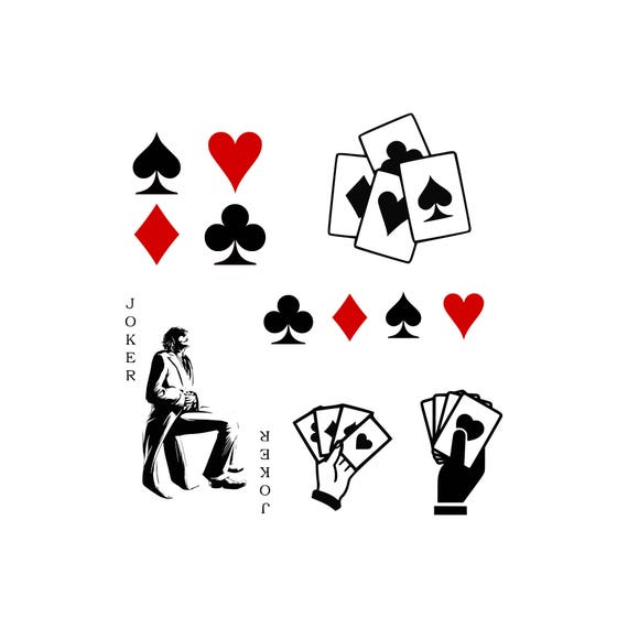 Playing Cards Svg Playing Card Symbols Svg Heart Svg Club Svg Etsy