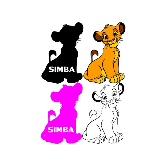 Lion King Svg Simba Svg Lion Svg Disney Svg Vector File Disney Etsy