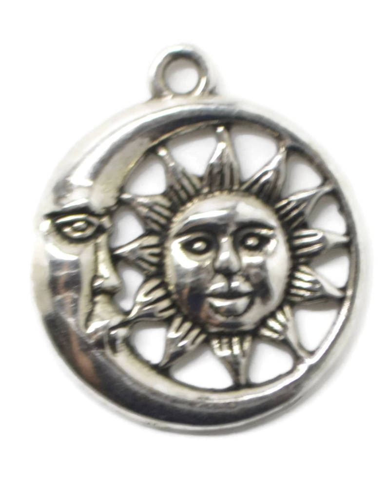 pendant with sun and moon moon pendant Sun moon pendant celestial pendant pendant celestial sun pendant