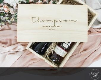 9bd933ec6 Custom Double Wine Box, Engagement Gift, Personalised Gift, Wine Box Gift,  Wedding Present, Personalized Wine Box, Retirement Gift