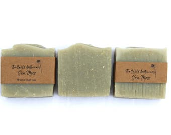 Sea Moss All Natural Handmade Vegan Shaving Soap
