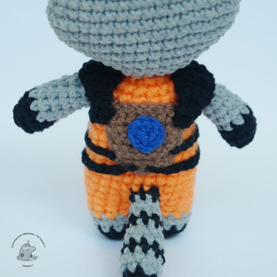 Rocket Raccoon and Free Baby Groot Crochet by craftyiscoolcrochet ... | 570x570
