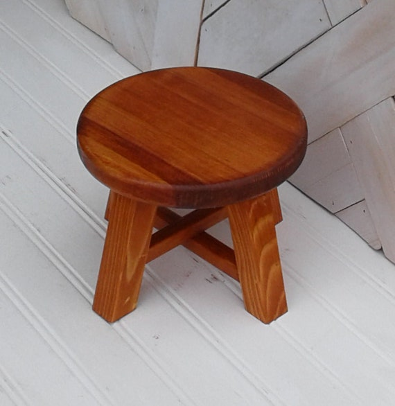 Excellent Six Inch Diameter Small Stool Cherry Stained Plant Stand Mini Stool Small Stool Made Of Pine Too Small For A Child To Sit On Gmtry Best Dining Table And Chair Ideas Images Gmtryco
