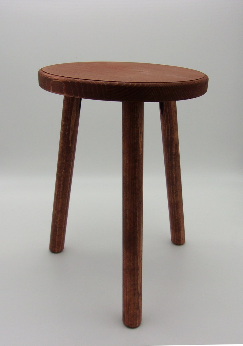 15 inches tall With 3 Legs Sanded and Ready to Paint or Stain Unfinished 11 inch Wood Plant Stand Stool FREE RETURNS Milking Stool