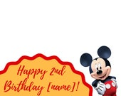 Happy Mickey Mouse Birthday Snapchat GeoFilter, snapchat filter, birthday, birthday filter, snapchat mickey