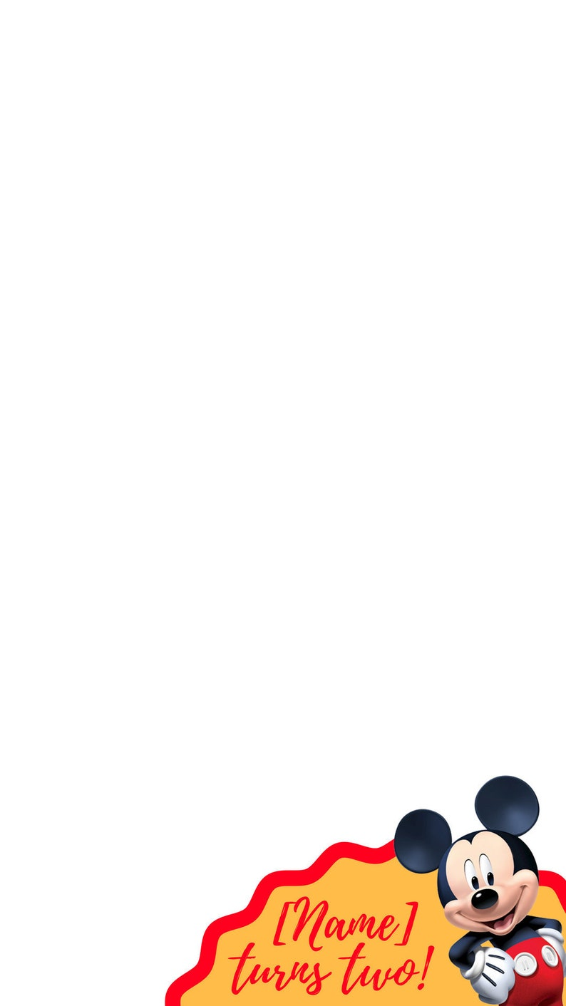 Mickey Mouse Birthday Snapchat GeoFilter snapchat filter image 0