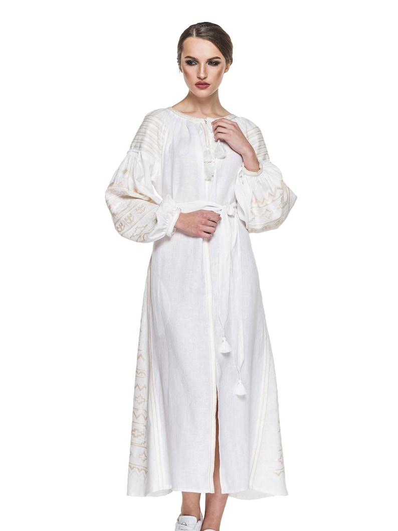 990b9bbec66 Women Ukrainian Embroidered Dress Vyshyvanka Dress National