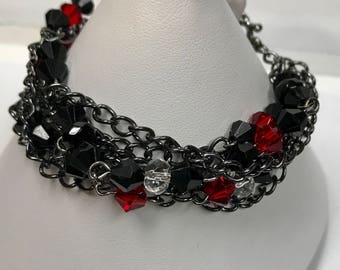 Black Multi Chain Bracelet