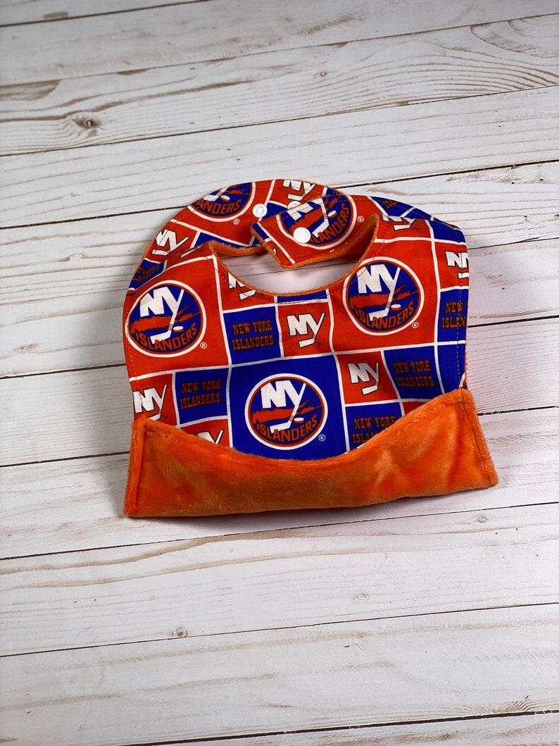 Burp Rag Bib New York Islanders Baby Gift Set New York Islanders Baby shower Gift set Pick your set Crumb Catcher bib Gender Neutral