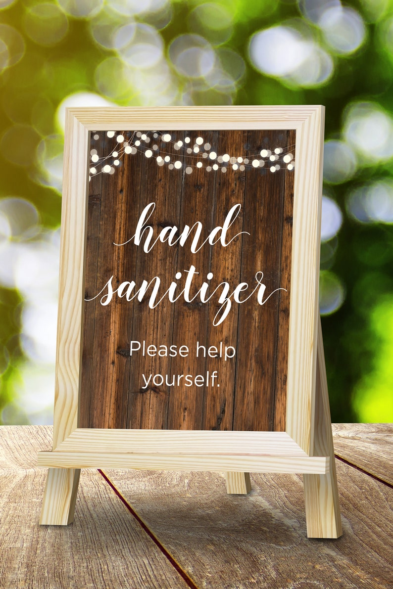 Printable Hand Sanitizer Sign Instant Download image 0