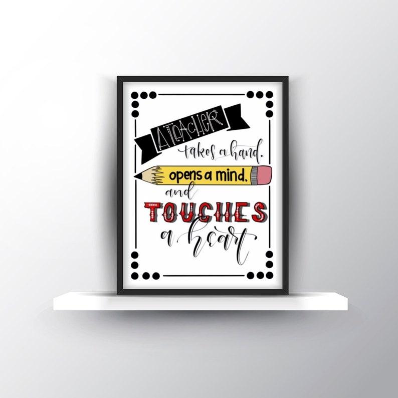 Teacher Gifts/ Teacher Quotes/ Teacher Appreciation Present/ Teacher  Printable/ Teacher Wall Art Decor/ Digital Download/ Instant Download