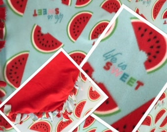Life is Sweet fleece blanket