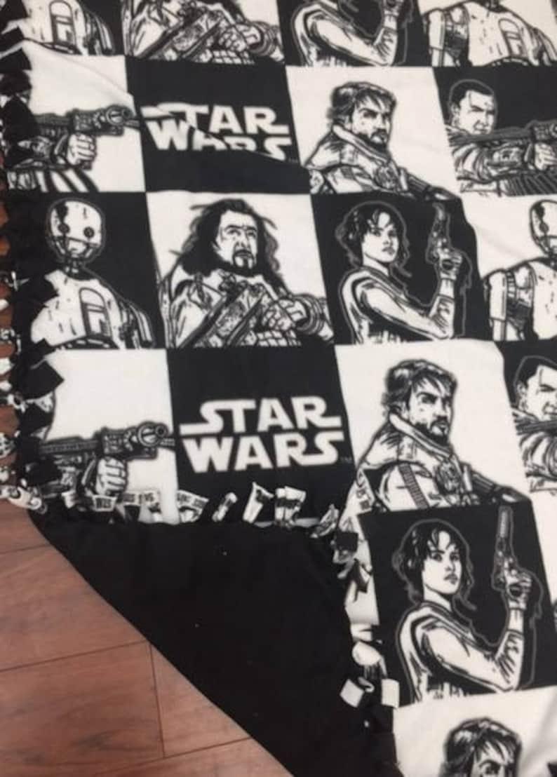 Star Wars Rogue One Warm and Cozy hand tied fleece blanket