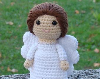 Amigurumi angel doll, Crochet angel doll, Crocheted angel