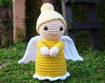 Amigurumi angel doll, Crochet angels, Crocheted angel, Handmade nativity set