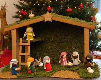Crochet Nativity Set, Amigurumi Nativity Scene, Handmade Christmas Nativity Scene