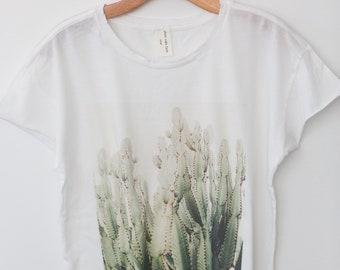 Cactus Tee - Wild West Series - BOXY/LOOSE tee - west coast lovers -vintage inspired boyfriend tee - southwest tee