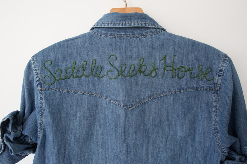8cc1304148b Customize   Personalized Hand Embroidered Chambray Denim Shirt