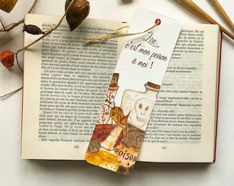 "Bookmark ""Magic Potions"" - made in watercolor, autumn bookmark, witches' potion, autumn lovers, witchcraft"