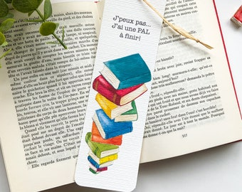 """Brand page """"Books"""" - made in watercolor, illustration, book lovers page mark, print on quality thick paper"""