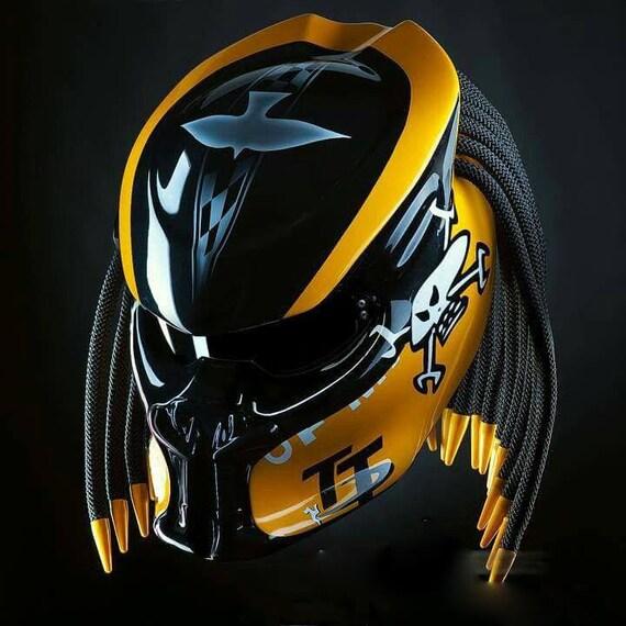 benutzerdefinierte predator echtes motorrad gelb grafik etsy. Black Bedroom Furniture Sets. Home Design Ideas