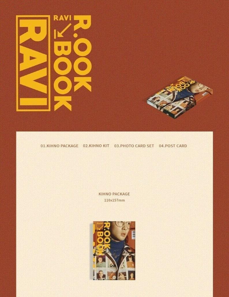 R.ook Book Kihno Kit+30photocards+2photo Postcard+tracking No. Ravi