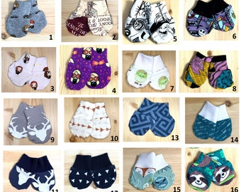 Baby Mittens: Set of 2 pairs - 0-3 months size