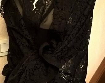 b9e76f7ef4b Étole de mariage en dentelle de couleur noir