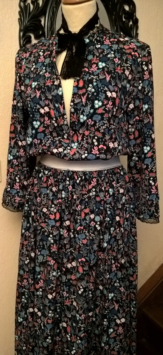 gift women in dress viscose printed cotton Made and Long in clothing France nW0fwqCwB